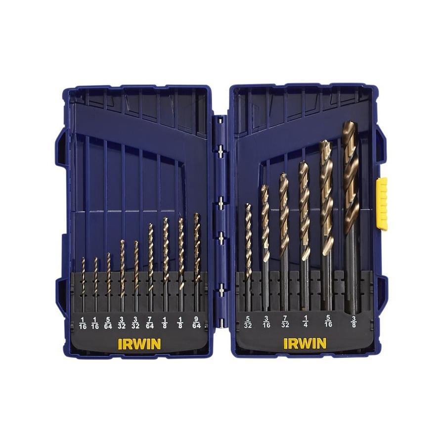 IRWIN 15-Pack Gold Oxide Twist Drill Bit Set