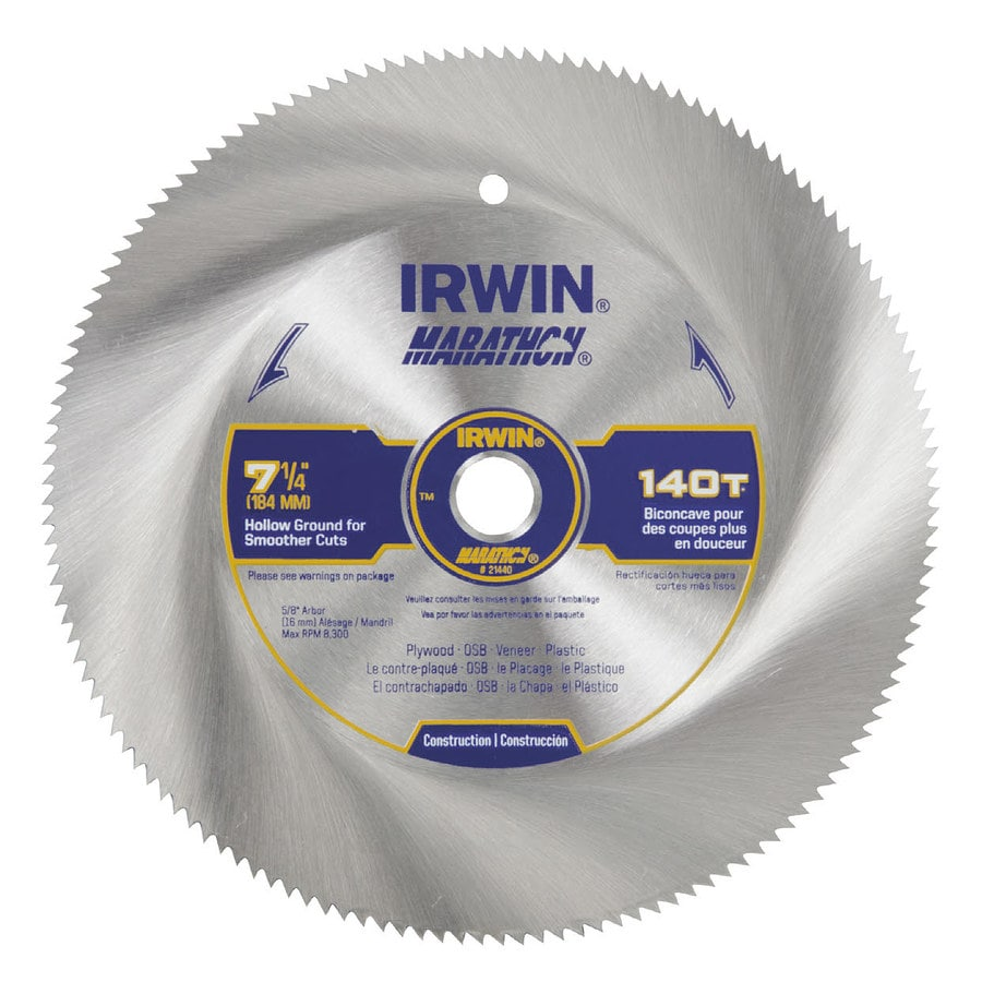 IRWIN Marathon 7-1/4-in 140-Tooth Continuous Carbon Circular Saw Blade