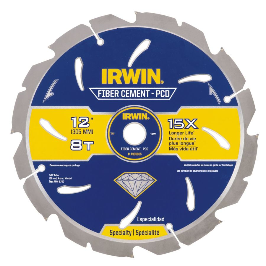 IRWIN 12-in 8-Tooth Standard Carbide Circular Saw Blade