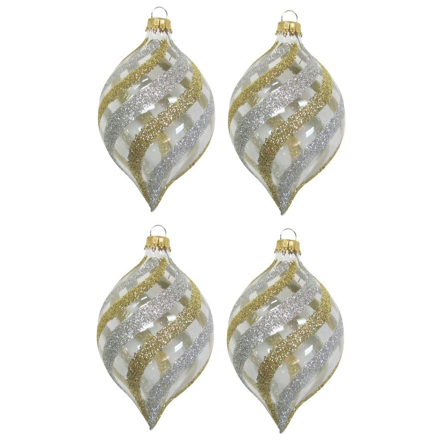 Holiday Living Clear/Gold/Silver Ornament Set Lights