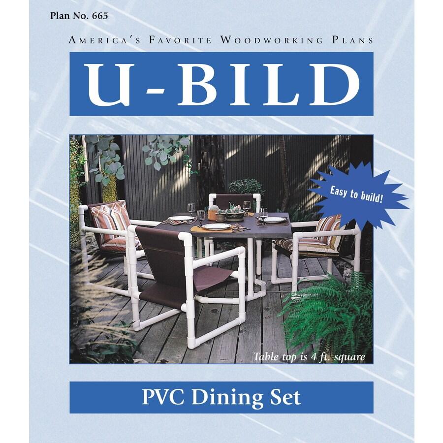 U-Bild PVC Dining Set Woodworking Plan