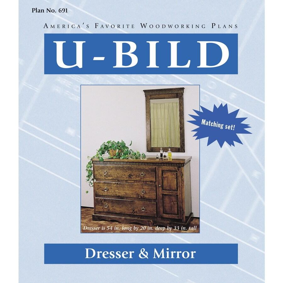 U-Bild Dresser and Mirror Woodworking Plan