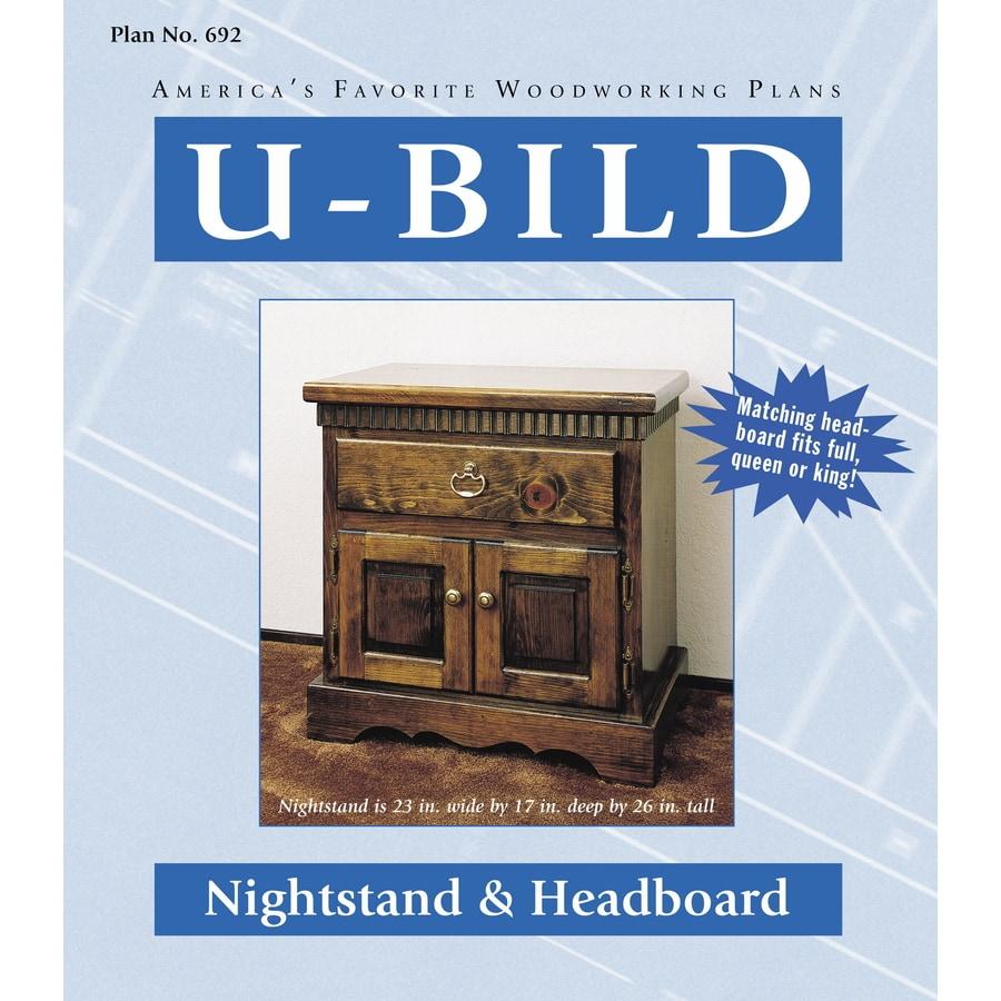 U-Bild Nightstand and Headboard Woodworking Plan