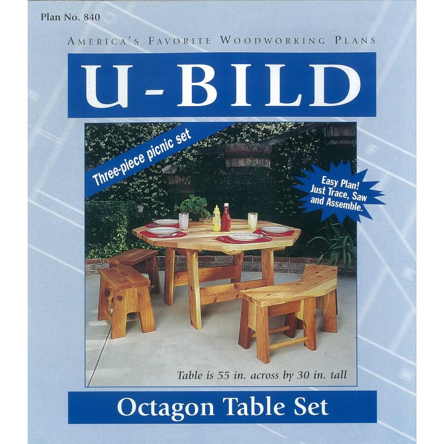 U-Bild Octagon Picnic Table Set Woodworking Plan