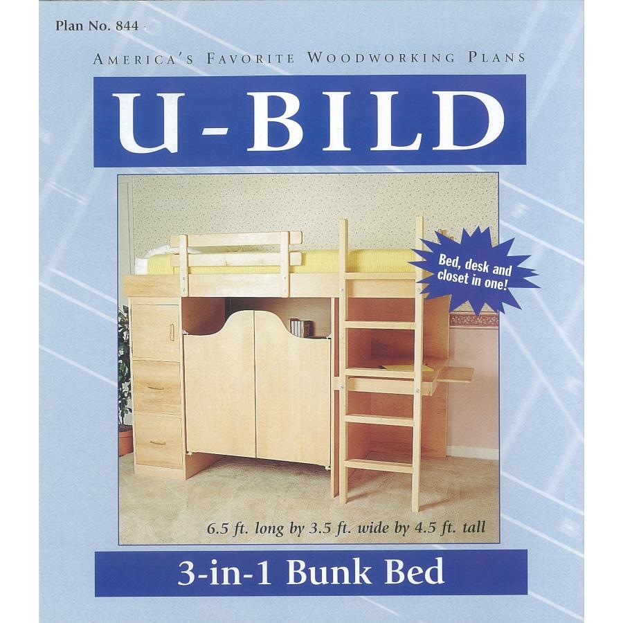 U-Bild 3-in-1 Bunk Bed Woodworking Plan