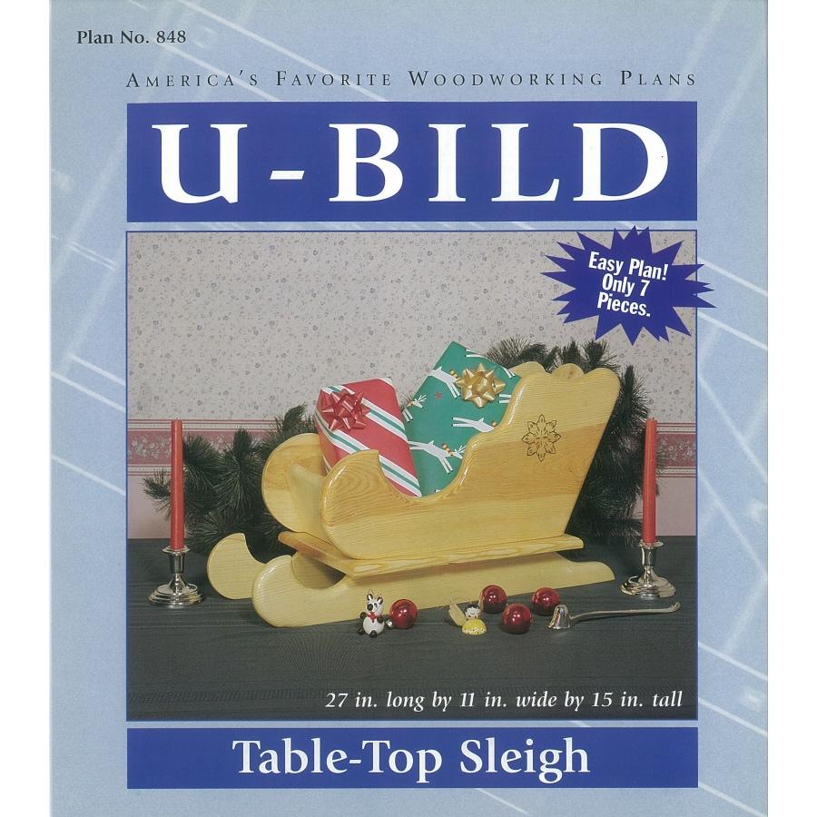 U-Bild Tabletop Sleigh Woodworking Plan