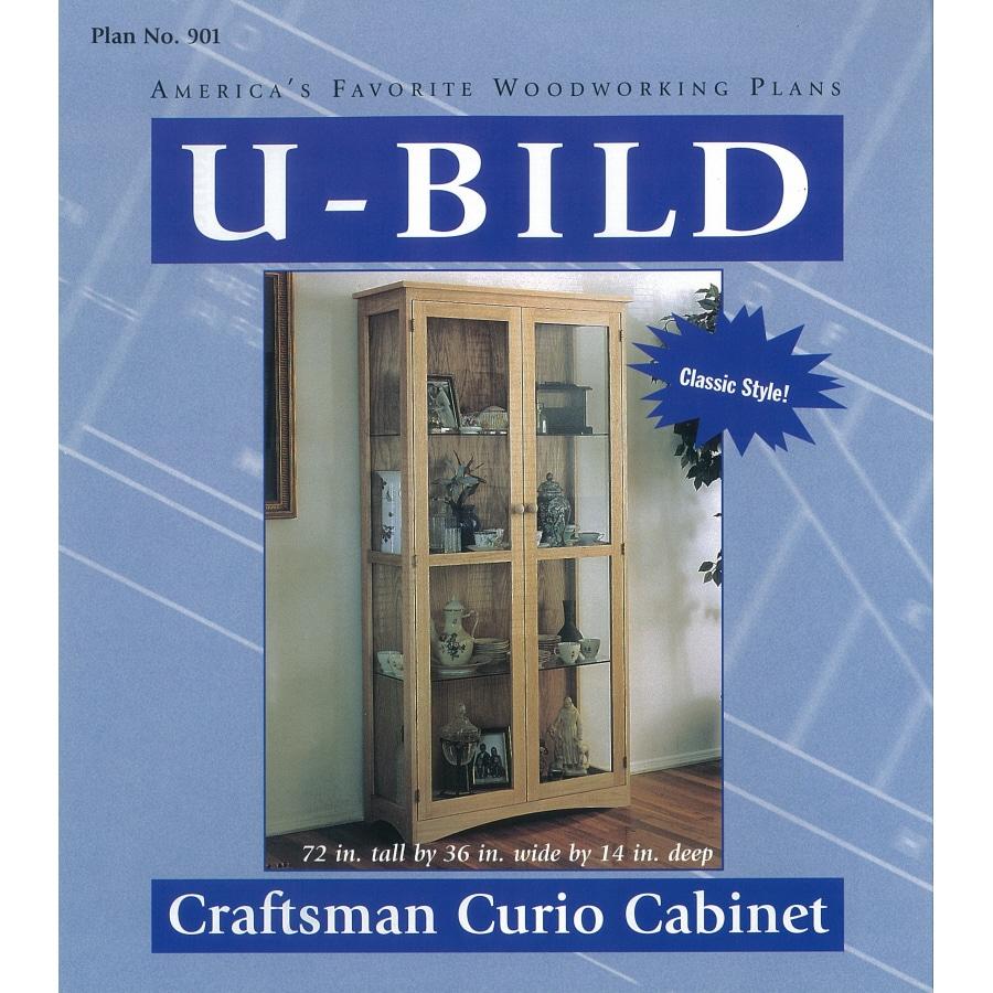 U-Bild Craftsman Curio Cabinet Woodworking Plan