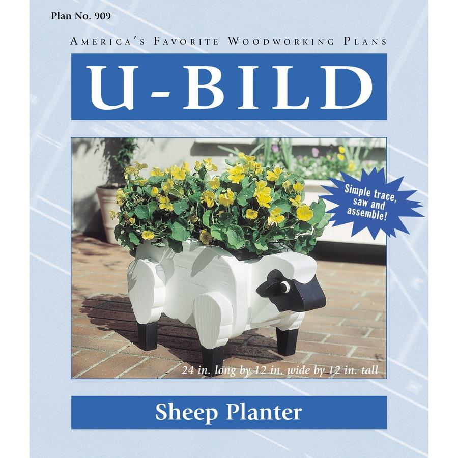 U-Bild Sheep Planter Woodworking Plan