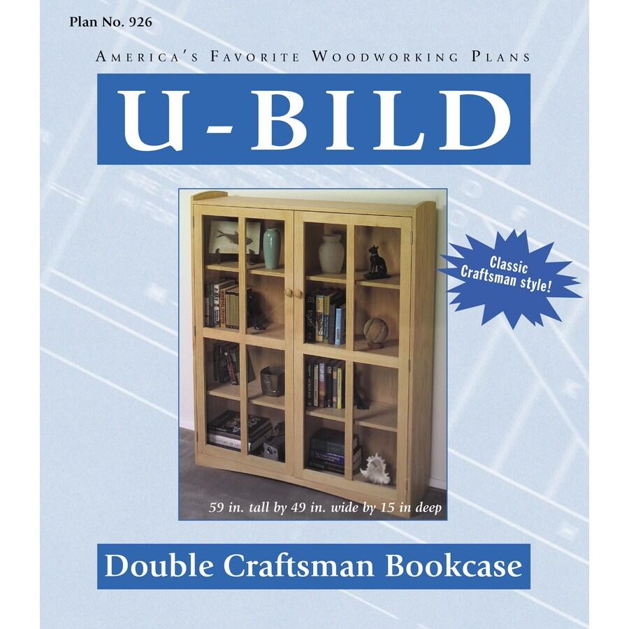 U-Bild Double Craftsman Bookcase Woodworking Plan