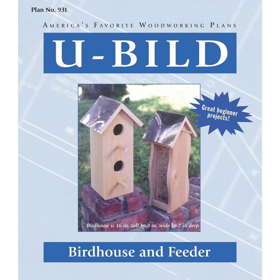 U-Bild Birdhouse and Feeder Woodworking Plan