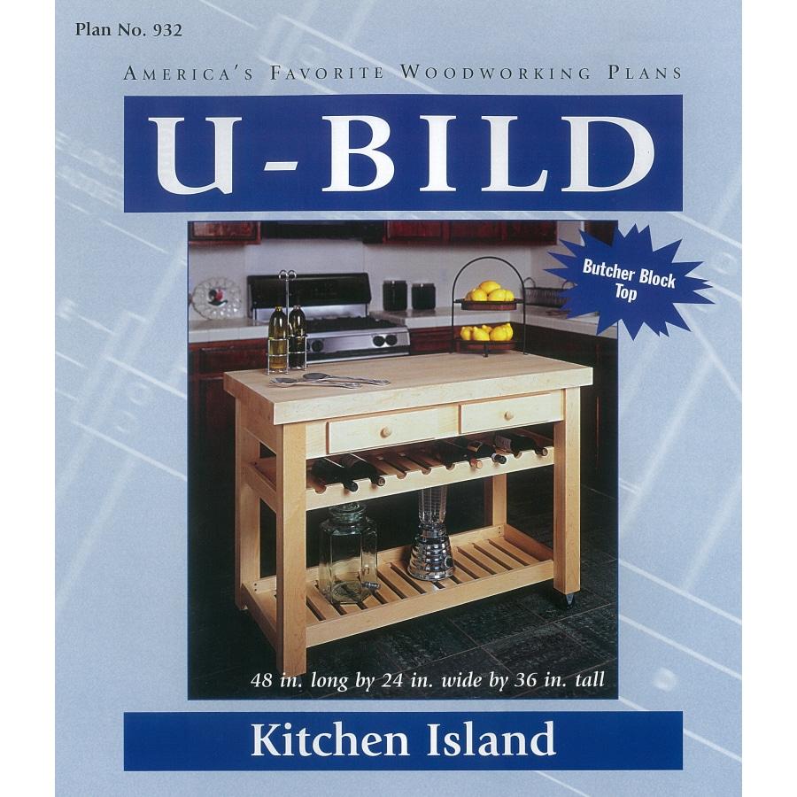 U-Bild Kitchen Island Woodworking Plan