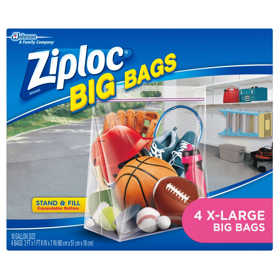 Ziploc Brand 4-Count 10-Gallon Plastic Storage Bags