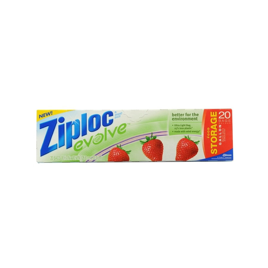 Ziploc 20-Count Gallon Plastic Storage Bags