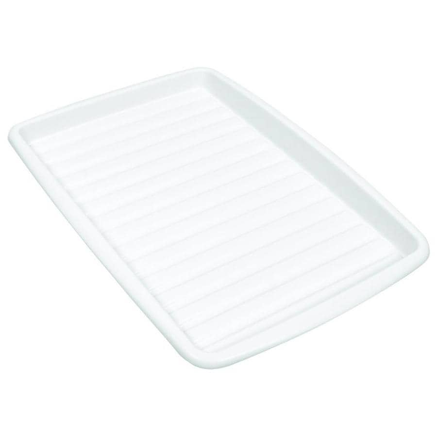 Style Selections 14-in W x 10-in L x 1-3/16-in H Plastic Drip Tray