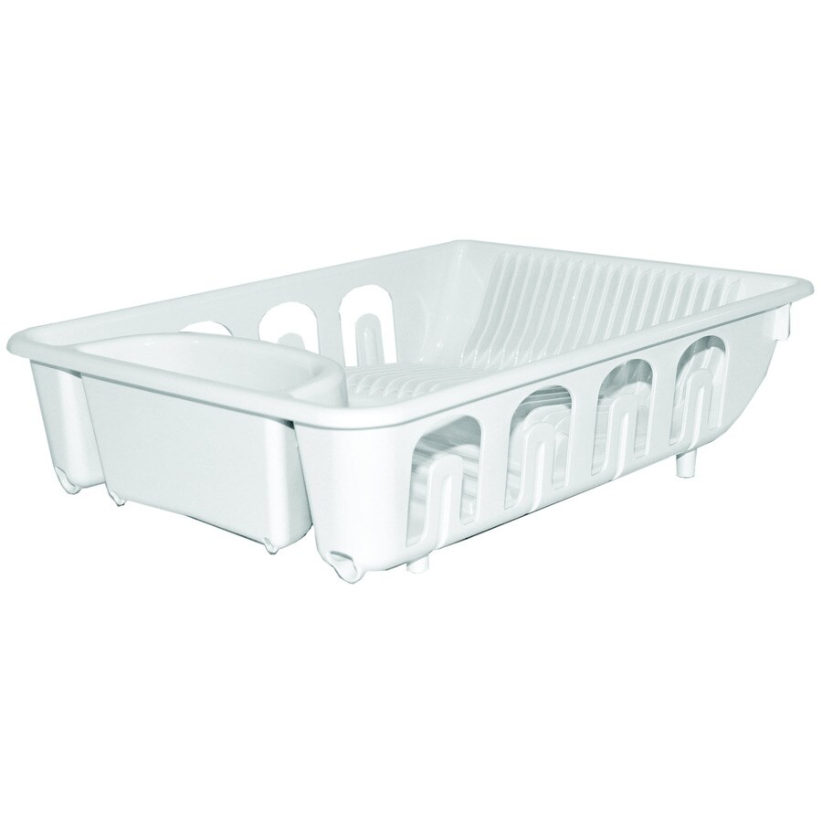 Style Selections 13.25-in W x 17.4-in L x 4.89-in H Plastic Dish Rack