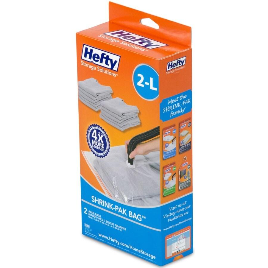 Hefty 2-Count 3-Gallon Plastic Storage Bags