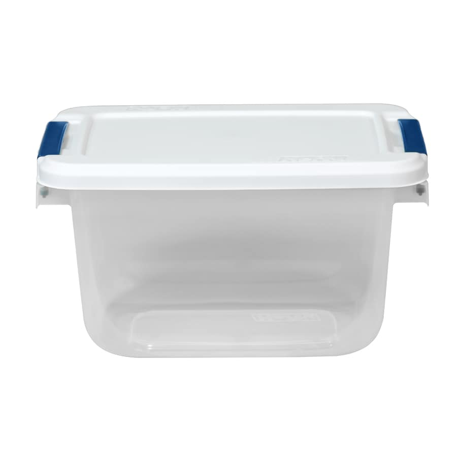 Hefty 6.5-Quart White Tote with Latching Lid