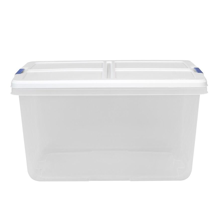 Shop Hefty 66-Quart Clear Tote with Latching Lid at Lowes.com