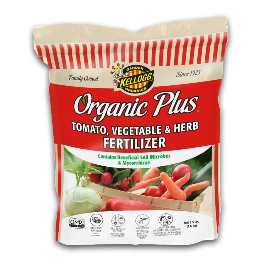Kellogg Organic Plus 3.5-lb Organic/Natural Flower and Vegetable Food (4-6-3)