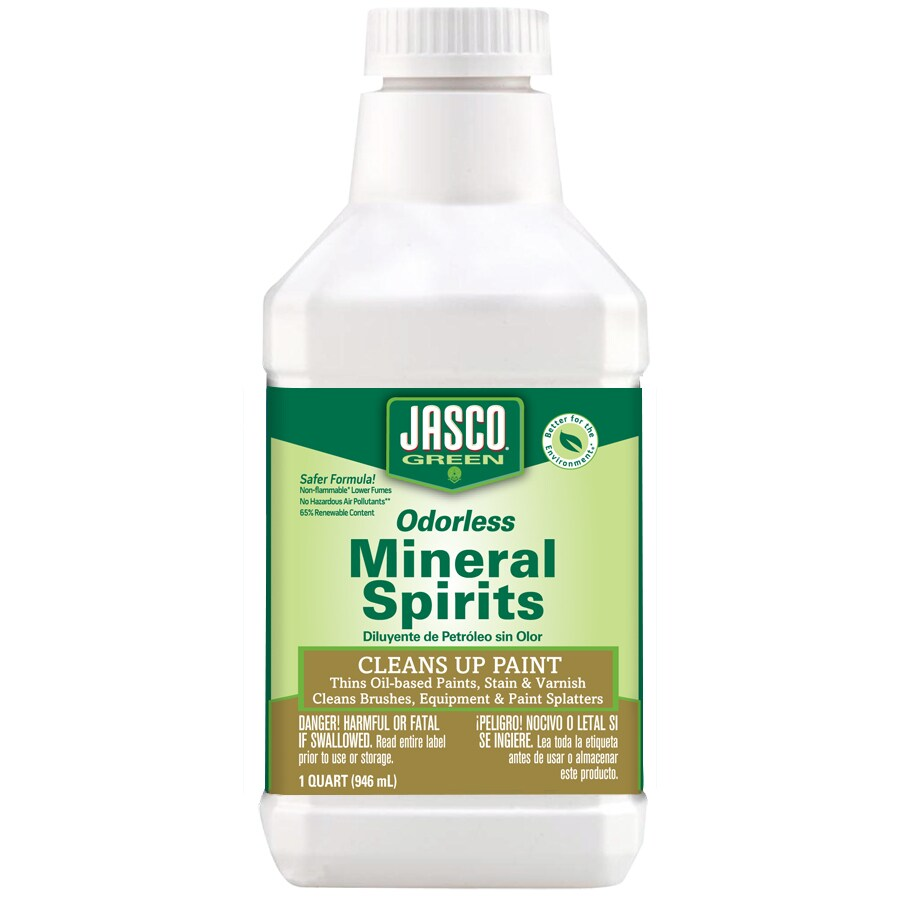 Jasco Quart Size Can Slow to Dissolve Odorless Mineral Spirits (Actual Net Contents: 32-fl oz)