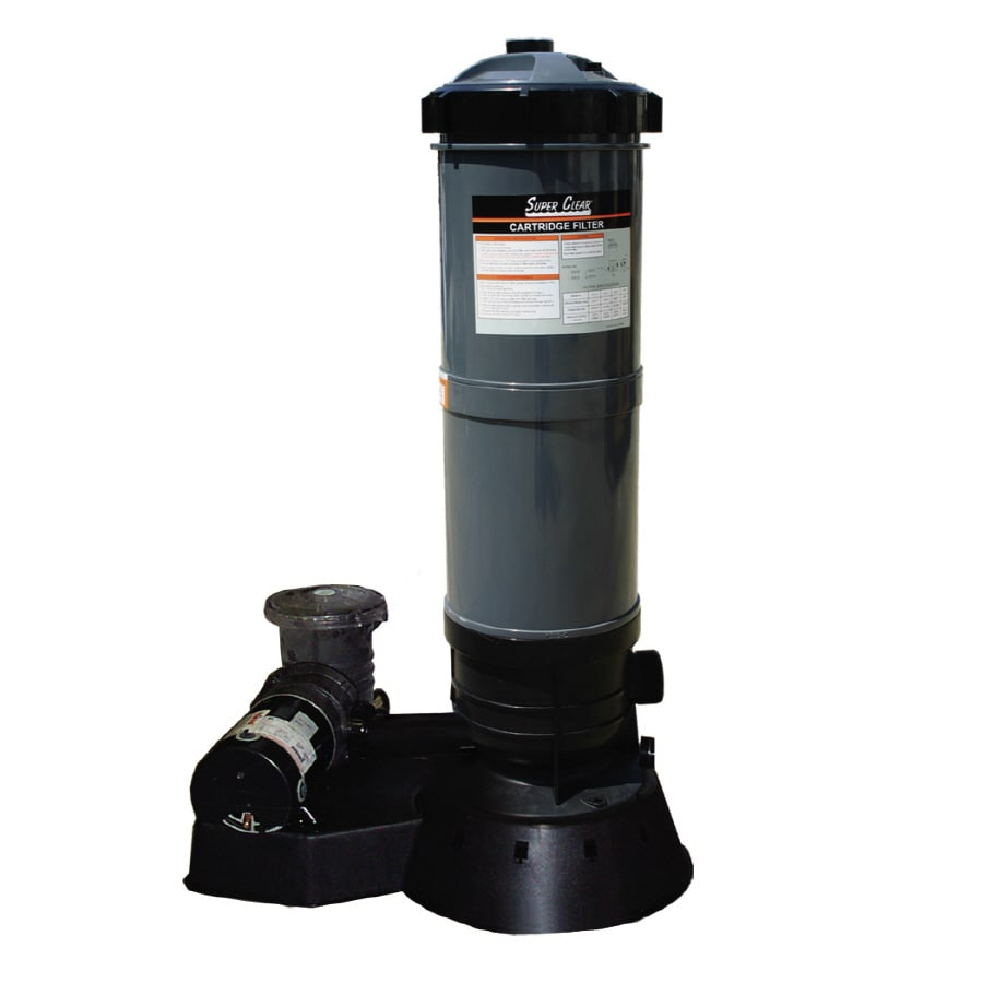 Shop aqua ez 70 sq ft cartridge pool filter system with for Pond filtration system