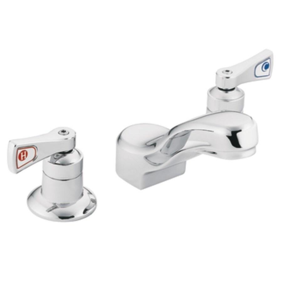 Moen M-Dura Chrome 2-Handle Bathroom Sink Faucet (Drain Included)