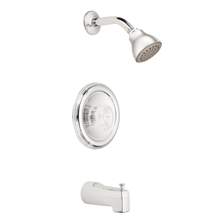 Moen Chateau Chrome 1-Handle Tub and Shower Valve Included with Single Function Showerhead