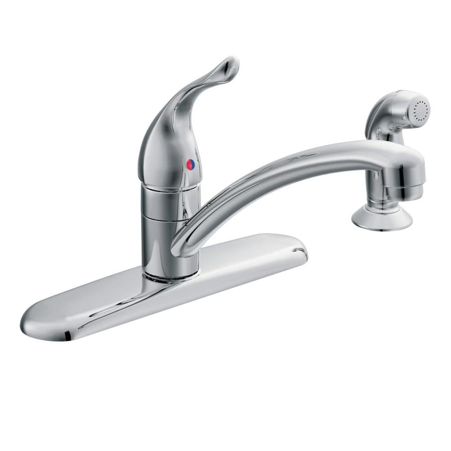 Moen Chateau Chrome 1-Handle Low-Arc Kitchen Faucet with Side Spray