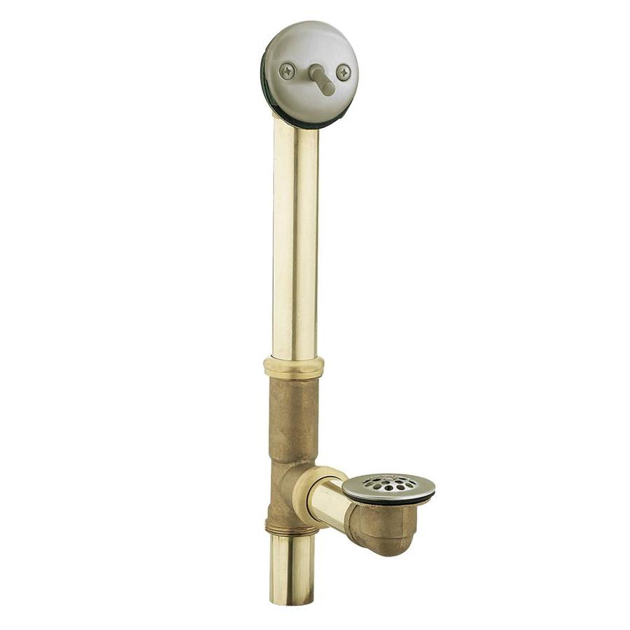 Moen 1-1/2-in Brushed Nickel Triplever with Brass Pipe