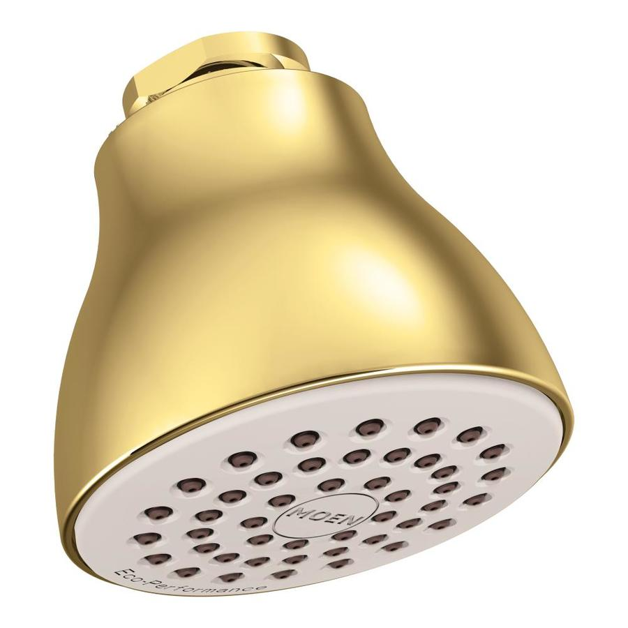 Moen 2.5-in 2.5-GPM (9.5-LPM) Polished Brass Showerhead