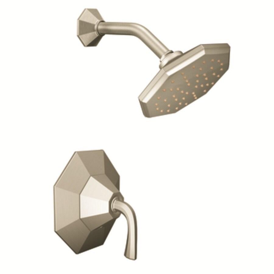 Moen Felicity Brushed Nickel 1-Handle Shower Faucet with Rain Showerhead