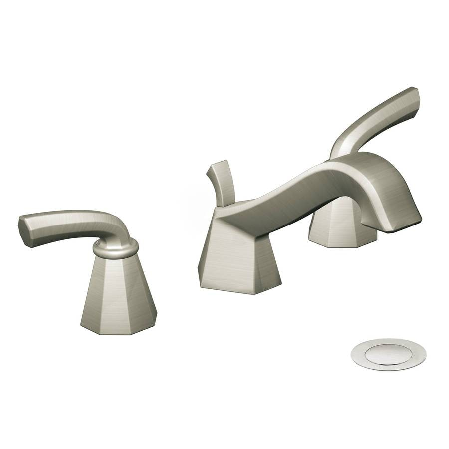 Bathroom Faucets Brushed Nickel Widespread : ... Felicity Brushed Nickel 2-Handle Widespread WaterSense Bathroom Faucet