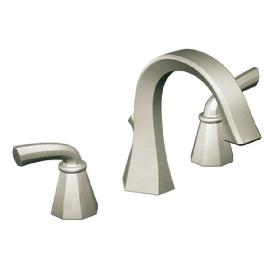 Moen Felicity Brushed Nickel 2-Handle Widespread WaterSense Bathroom Faucet