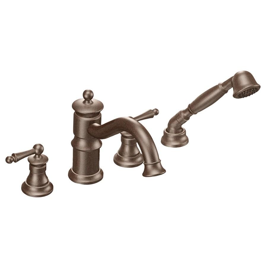 Moen Waterhill Oil-Rubbed Bronze 2-Handle Adjustable Deck Mount Tub Faucet