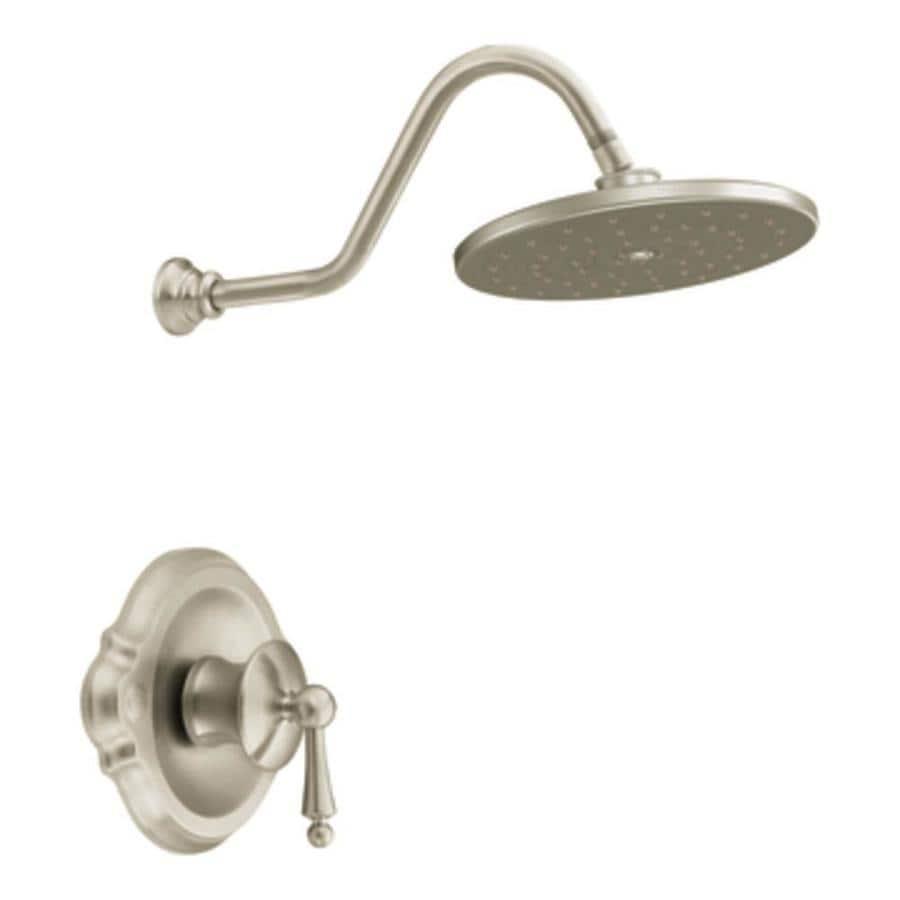 Shop Moen Waterhill Brushed Nickel 1-Handle Shower Faucet