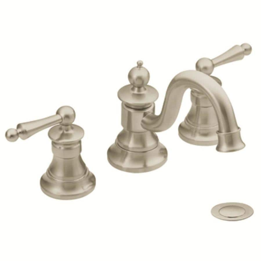 Bathroom Faucets Brushed Nickel Widespread : ... Brushed Nickel 2-Handle Widespread WaterSense Bathroom Faucet at Lowes