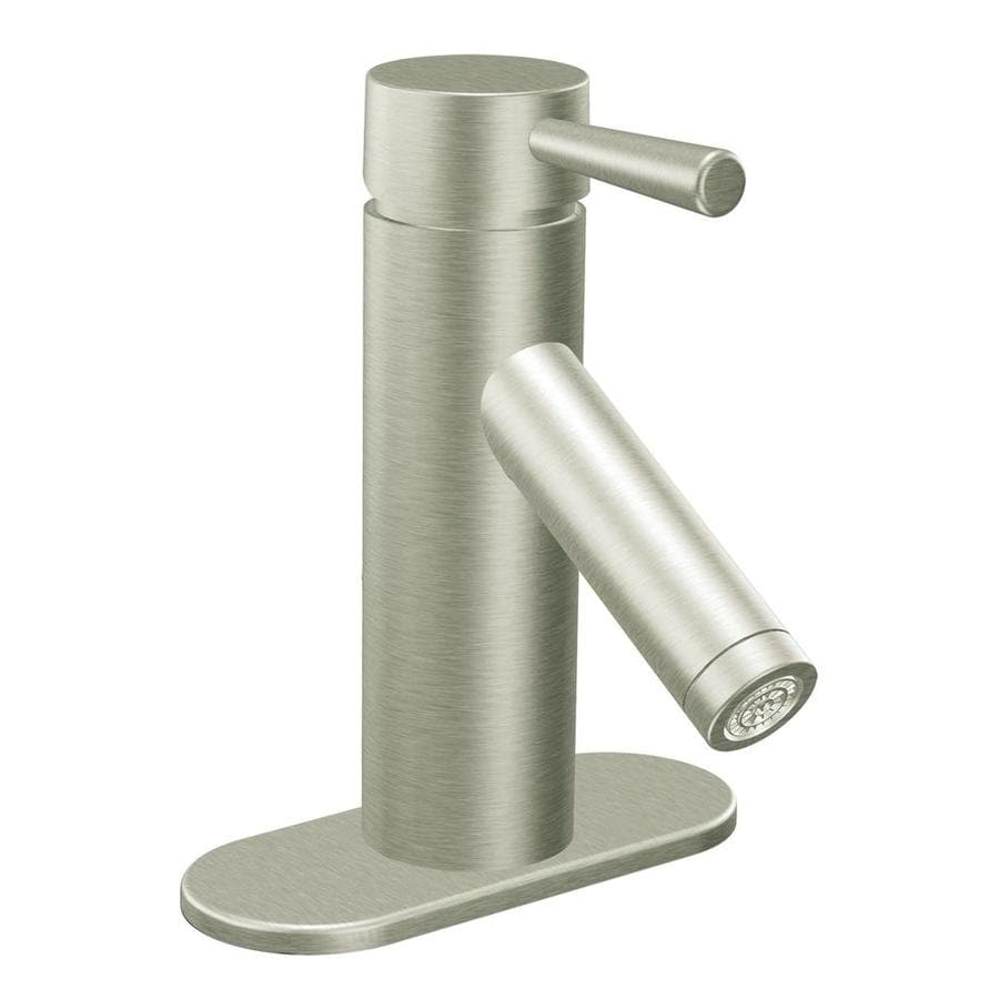 Shop Moen Level Brushed Nickel 1 Handle 4 In Centerset
