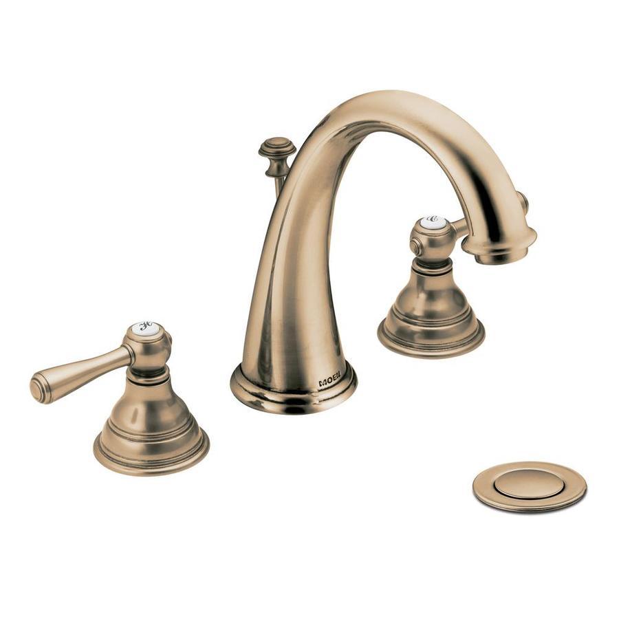 Moen Kingsley Antique Bronze 2-Handle Widespread WaterSense Bathroom Faucet