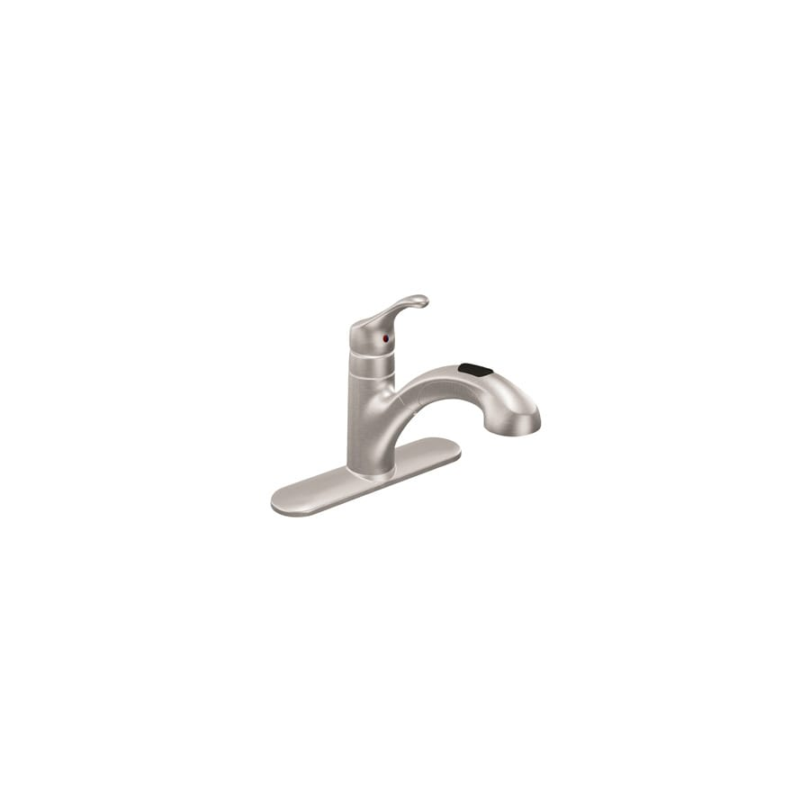 Shop Moen Renzo Classic Stainless 1 Handle Pull Out Kitchen Faucet At