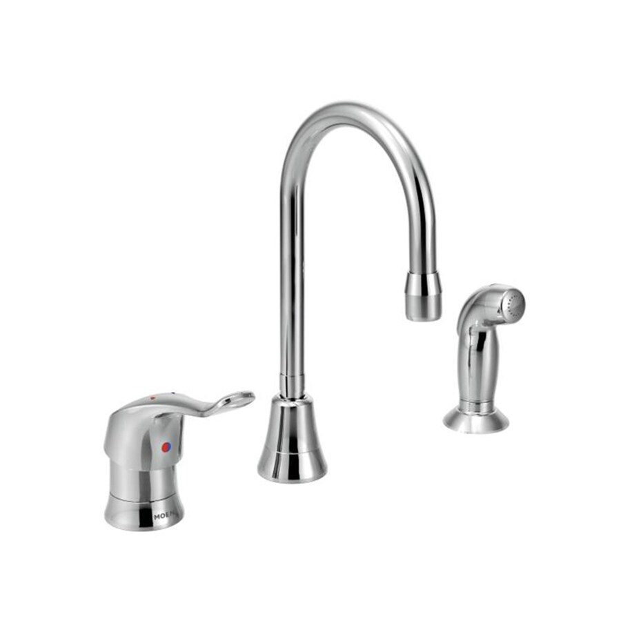 Moen M-Dura Chrome 1-Handle High-Arc Kitchen Faucet with Side Spray