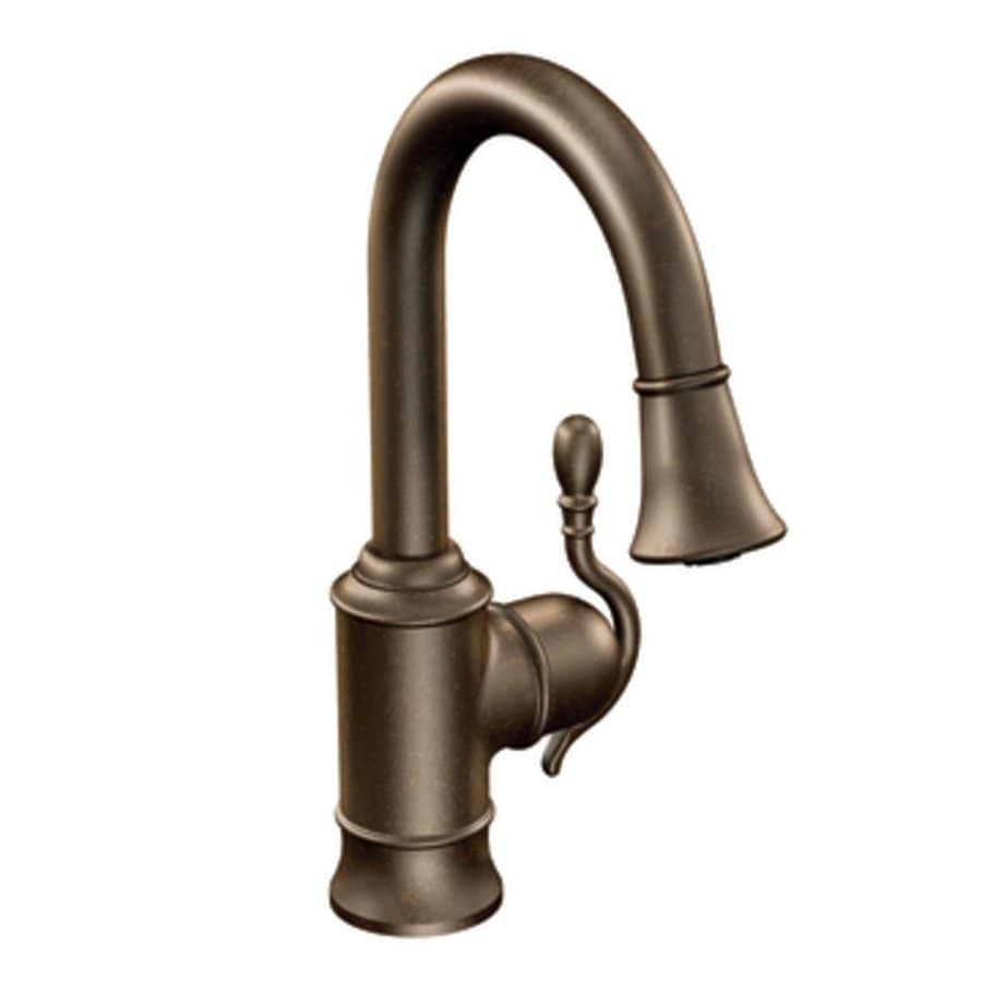 Moen Woodmere Oil Rubbed Bronze 1-Handle Bar and Prep Faucet