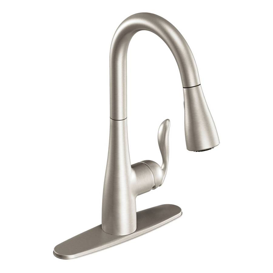 Shop Moen Arbor Stainless 1-Handle Pull-Down Kitchen ...