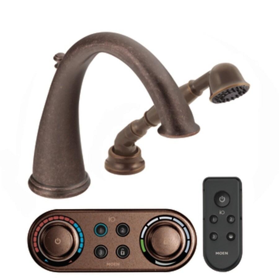 Moen Kingsley Oil Rubbed Bronze Touchless -Handle Adjustable Deck Mount Tub Faucet
