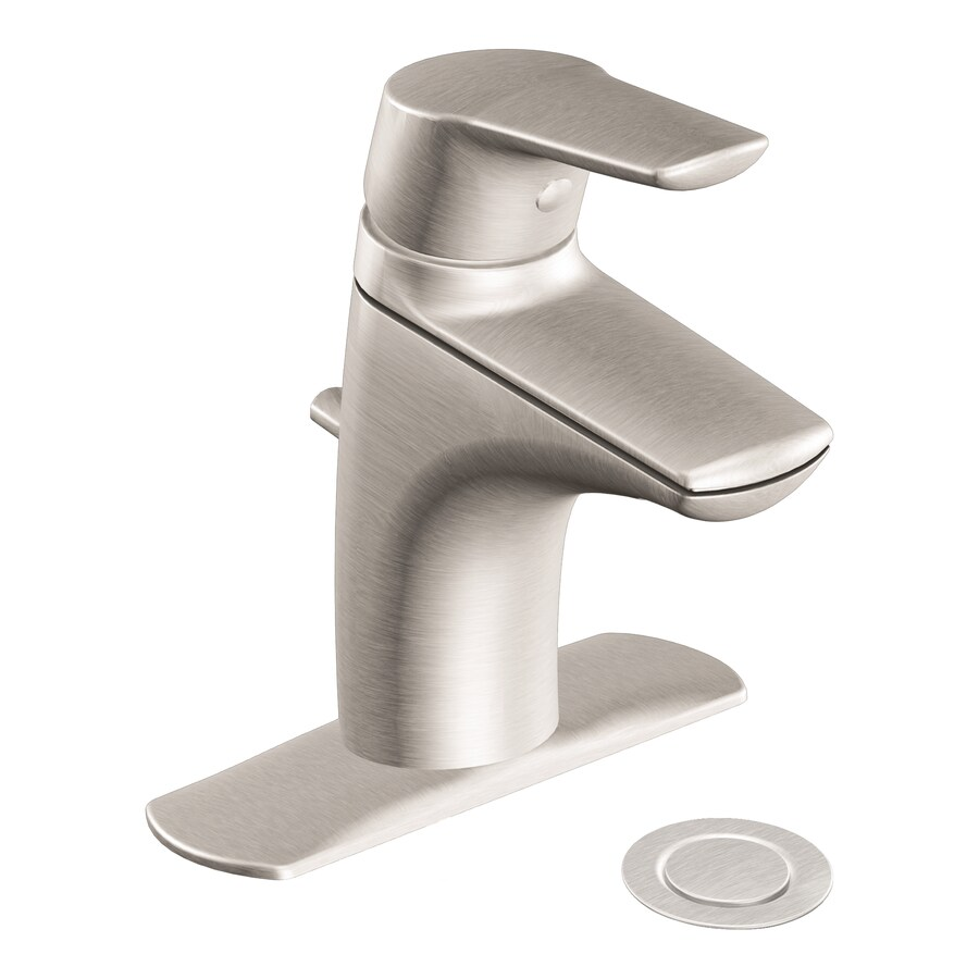 Shop moen method brushed nickel 1 handle single hole watersense bathroom faucet drain included - Moen shower faucet ...