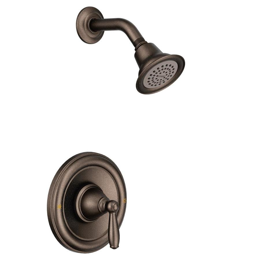Shop Moen Brantford Oil Rubbed Bronze 1 Handle WaterSense Shower Faucet With