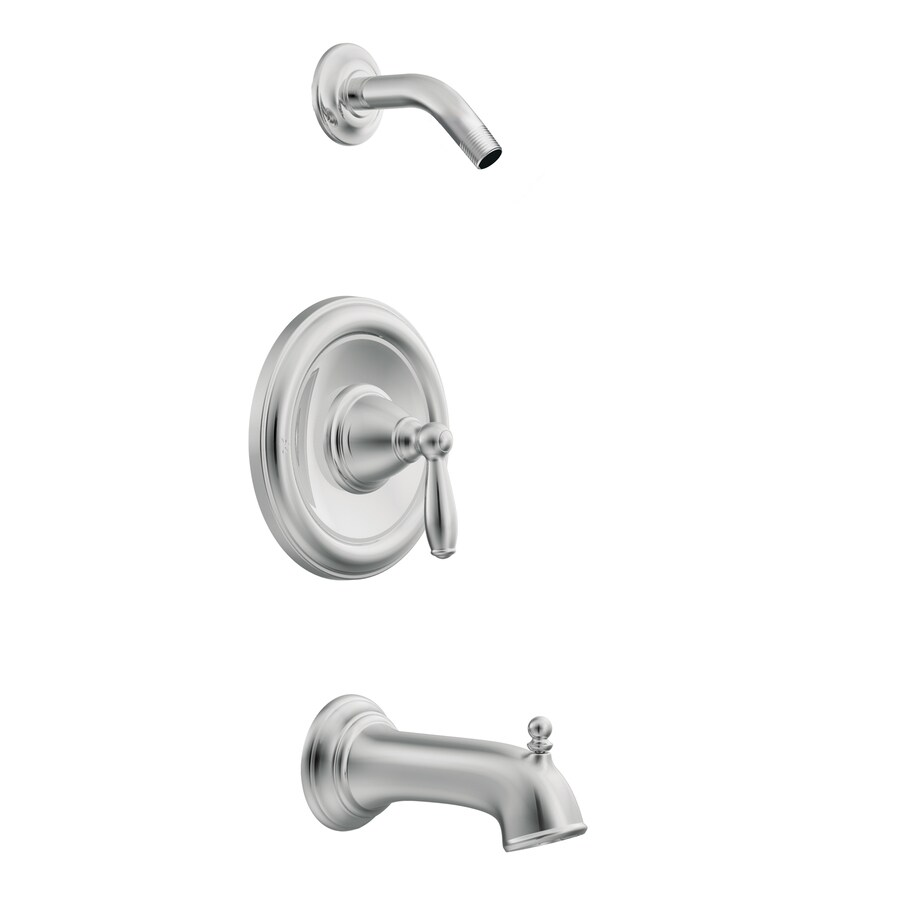 Moen Brantford Chrome 1-Handle Bathtub and Shower Faucet