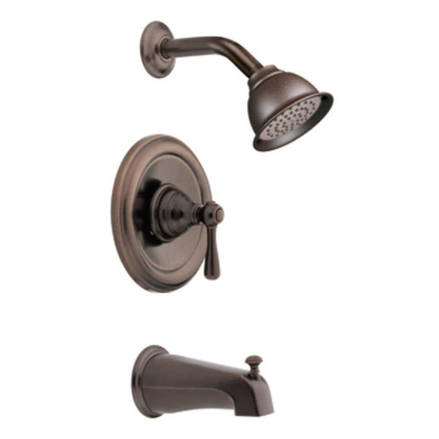 Shop Moen Kingsley Oil Rubbed Bronze 1 Handle Watersense Bathtub And Shower Faucet With Single
