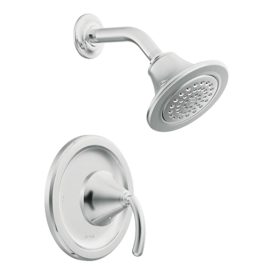 Moen Icon Chrome 1-Handle Shower Faucet Trim Kit with Single Function Showerhead