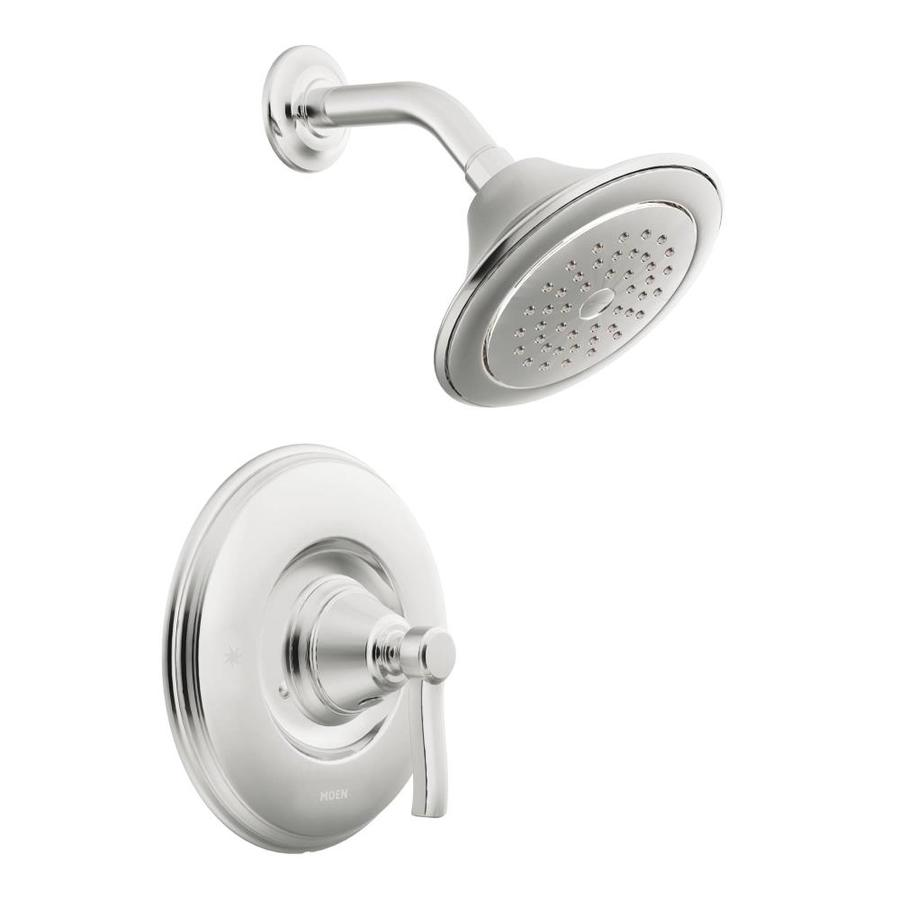 Moen Rothbury Chrome 1-Handle Shower Faucet Trim Kit with Single Function Showerhead