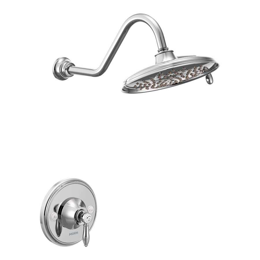 Shop Moen Weymouth Chrome 1 Handle Shower Faucet With Single Function Showerh